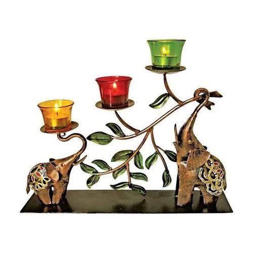 Decorative Metal Elephant Tree T Lite