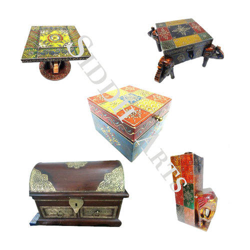 Handcrafted Painted Wooden Boxes