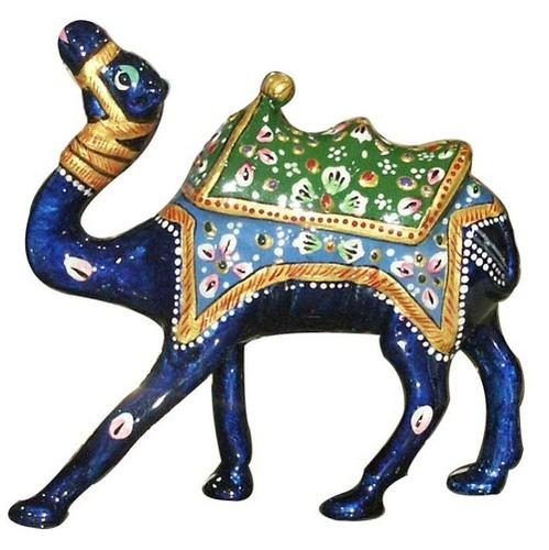 Metal Meena Kari Kathidar Camel Figurine