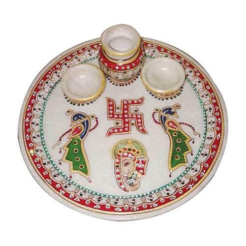 Rajasthan Marble Pooja Thali