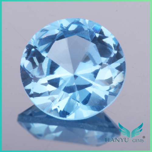 Round Brilliant Cut Synthetic Spinel Clear Blue Synthetic
