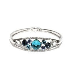 Melifa Silver Plated And Blue Bracelet