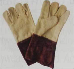 Heat Resistance Aramid Gloves With Leather (Hrg 403)