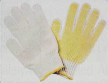 High Tenacity Seamless Knitted Gloves With Pvc Dots