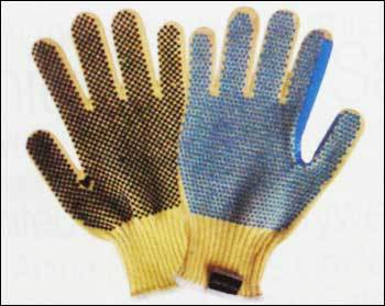 Kevlar Seamless Knitted Gloves with PVC Dots