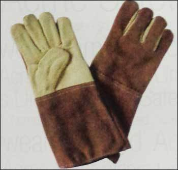 Heat Resistance Aramid Hand Gloves With Leather