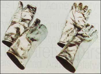 Aluminised Gloves Stitched With Kevlar Thread