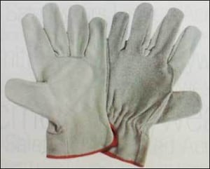 Chrome Driving Leather Gloves