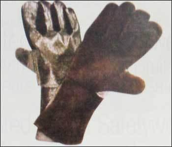 Heat Resistance Aluminised Aramid Leather Gloves