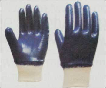 Nitrile Full Coated Gloves With Knitted Wrist