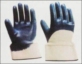 Nitrile Half Coated Gloves With Safety Cuff