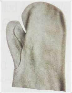 Two Finger Split Welding Leather Gloves