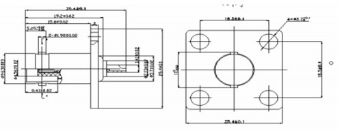 Bnc(F) 4 Hole Solder