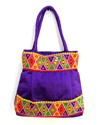 f22cb2ba1c Resham And Mirror Work Traditional Shoulder Bag in Ahmedabad ...