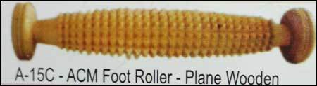 Acupressure Foot Roller - Plain Wooden (A-15c)
