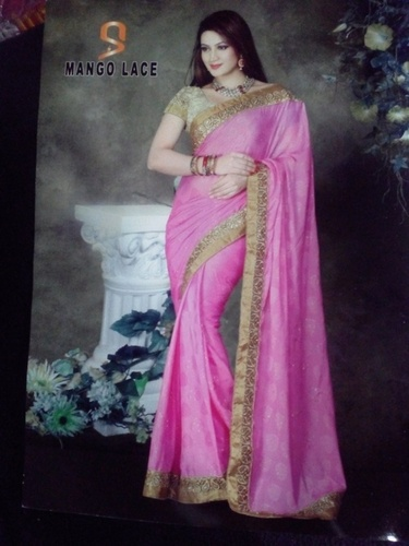 Fancy Lace Saree (Mango Lace) in  Ring Road