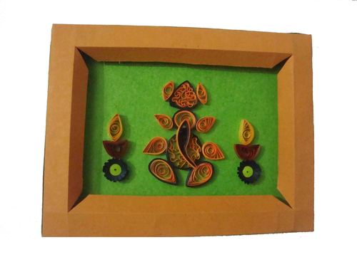 Quilling Ganesh Photo Frame