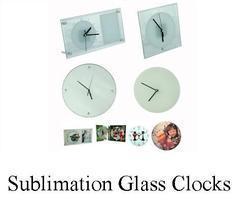 Sublimation Glass Clocks