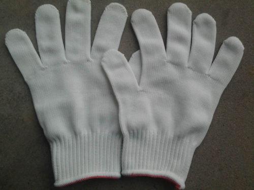 Black Nylon Safety Work Thicken Gloves