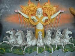 Sun God Wall Hanging Paintings