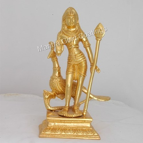 Murugan Idol Gold Plated in Chennai, Tamil Nadu - Mantra Gold Coatings