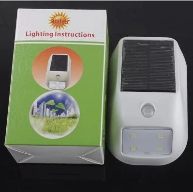 4 LED Solar Powered Led Solar Lamp Motion Sensor