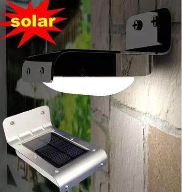Outdoor Solar Powered 16 LED Wall Stairway Mount Motion PIR Sensor Detector