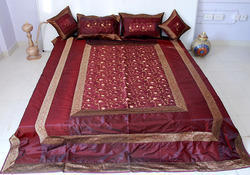 Indian Embroidered Bed Spread Bedsheets