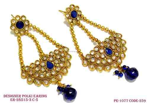 Polki Peacock Earings