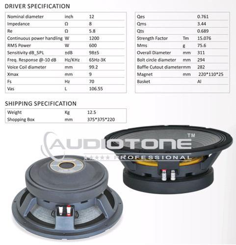 Professional Speakers (Ad-12x604mb) - AudioTone Professional