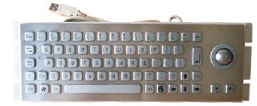 Metal Keyboard With Trackball (LP 2444 TB)
