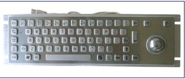 Metal Keyboard With Trackball (LP 2519 TB)