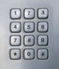 Vandal Resistant Keyboard (LP 2319)