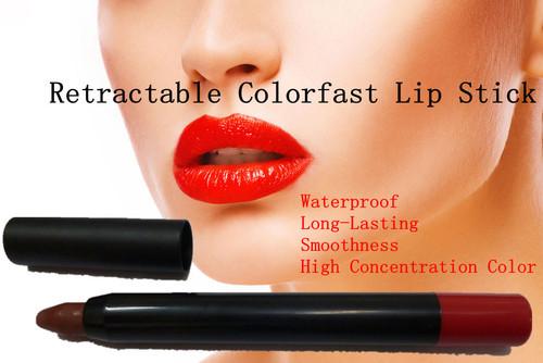 Retractable Colorfast Lip Stick