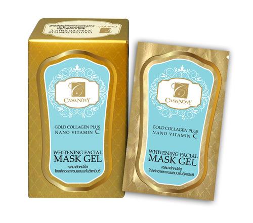 Gold Collagen Plus Nano Vitamin C Whitening Facial Mask Gel