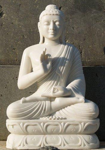 Marble Buddha Statue in  Sanganer