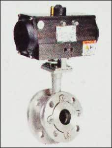 Flush Bottom Ball Valve With Pneumatic Rotary Actuator