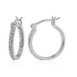 Ladies Platinum Earrings
