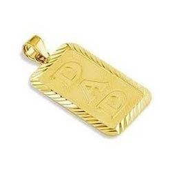 Mens Gold Pendant