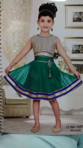 cbb06413c Skirt Top Rama Green With Fawn For Girls - UJALA FASHION PVT. LTD ...