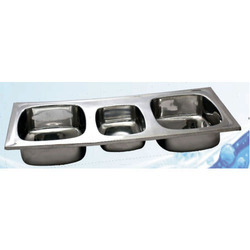 Double Bowl With Veg Bowl Sink