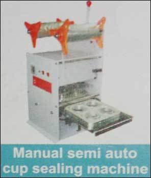 Manual Semi Auto Cup Sealing Machine