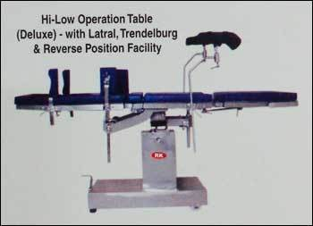 Hi Low Operation Table With Latral