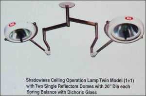 Shadowless Ceiling Operation Lamp Twin Model