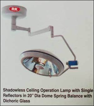 Shadowless Ceiling Operation Lamp With Single Reflectors