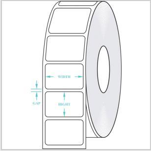 Blank Thermal Transfer Roll Labels (1.5x1 Inch)
