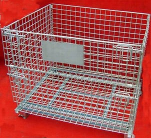 Stackable And Foldable Wire Mesh Container