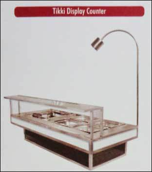 Tikki Display Counter (Steel and Wooden)