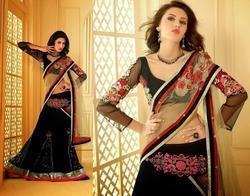 Net Lehenga Style Saree At Best Price In Rajkot Gujarat Vishw Impex