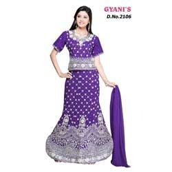 b25070dbc8eece Purple Stylish Ghagra Choli in Mumbai, Maharashtra - Gyanis